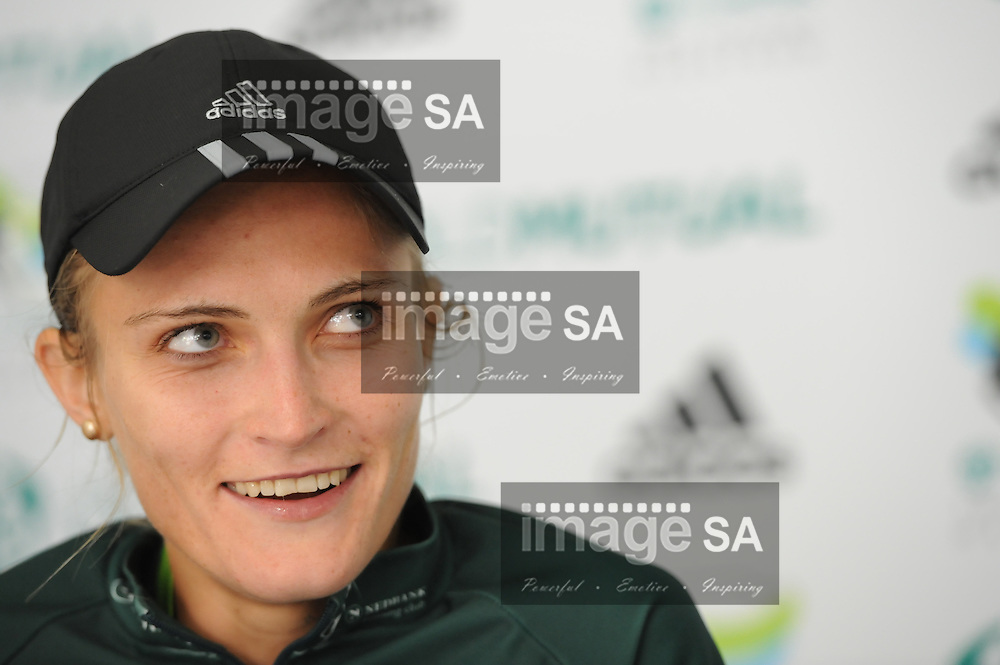 CAPE TOWN, South Africa - Saturday 30 March 2013, 3rd place Irvette can Blerk at the press conference during the half marathon of the Old Mutual Two Oceans Marathon. .Photo by Roger Sedres/ ImageSA