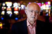 Apple CEO Steve Jobs' father, John Jandali, poses for a portrait at Boomtown Casino, where he's the manager, in Reno, Nevada October 8, 2011..CREDIT: Max Whittaker/Prime for The Wall Street Journal.JOBSFATHER