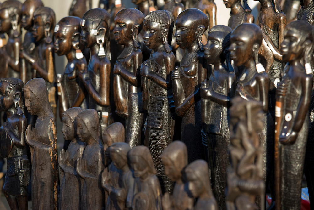 Wood carvings maputo mozambique paul souders worldfoto