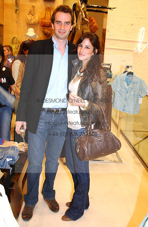 FRITZ VON WESTENHOLTZ and CAROLINE SIEBER at a party to celebrate the opening of the new H&amp;M Flagship Store at 17-21 Brompton Road, London SW3 on 23rd March 2005.<br /><br />NON EXCLUSIVE - WORLD RIGHTS