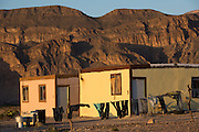 Laundry hangs on a line of barbed wire in Boquillas del Carmen on May 14, 2014. Most homes have limited electricity from gas-powered generators or solar panels.