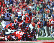 Arkansas running back Broderick Green (29) is stopped on 4th and one vs. Ole Miss at Vaught-Hemingway Stadium in Oxford, Miss. on Saturday, October 22, 2011. .