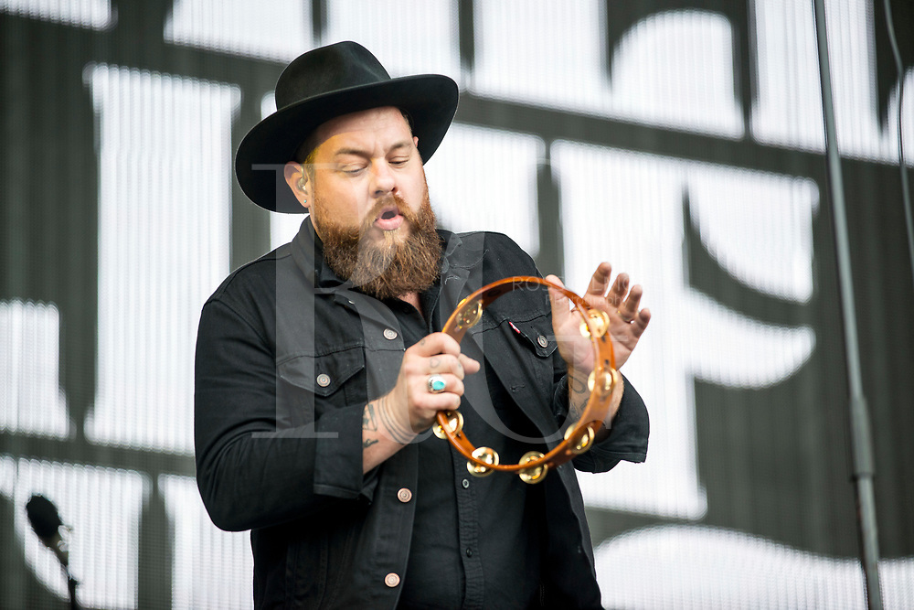 Nathaniel Rateliff & The Night Sweats performs on Day 3 of the T in the Park festival at Strathallan Castle on July10, 2016 in Perth, Scotland.