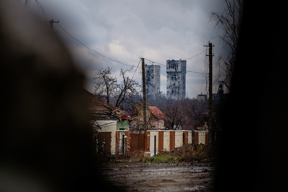 These two towers are often use by snipers to spot Ukrainian soldier coming out of their bunkers at check points.