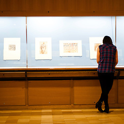 London, Uk - 18 September 2012: a woman views drawings during the Press Preview for the British Museum's Renaissance to Goya: Prints and Drawings from Spain exhibition curated by Mark McDonald