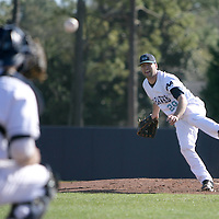 UNCW's Mat Batts pitches against VCU. (Jason A. Frizzelle)