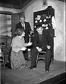 """1957 - Gael Linn- """"Muiris O hAirt"""" drama rehearsal at Damer Hall, Dublin"""