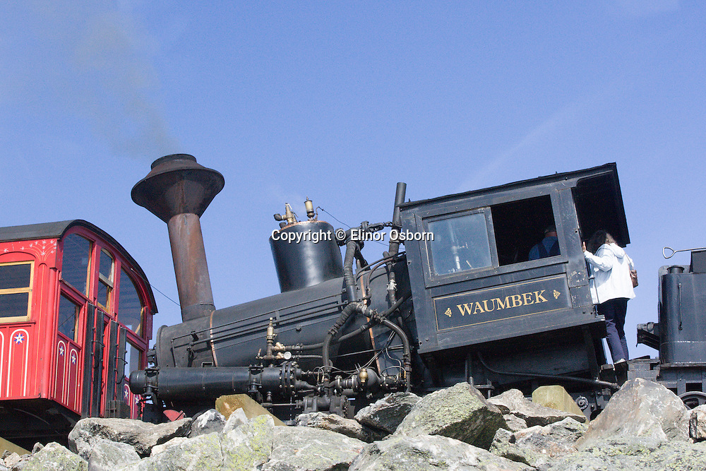 Mt Washington Cog Railway 1869, Second steepest mountain climbing train in the world,  Coal-fired steam locomotives