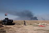 Iraq, Mosul: Iraqi army position in the southern outskirts of Mosul. Alessio Romenzi