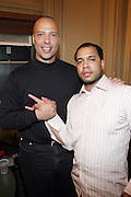 l to r: Gus Heningburg and Johnny Nunez backstage at Metro PCS 5 Boro Tour featuring The Dream, Jasimine Sullivan and Common held at The Brooklyn Academy of Music(BAM) on March 10, 2009 in Brooklyn , NY..**Exclusive**