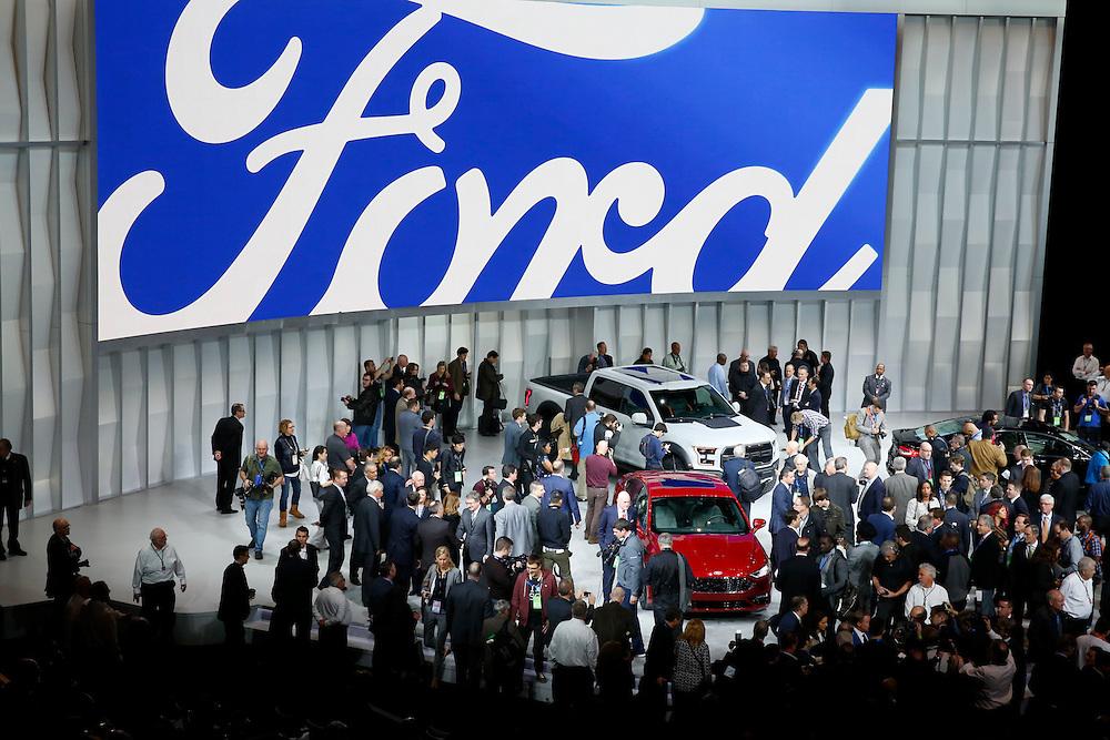 North American International Auto Show in Detroit, Monday, Jan. 11, 2016. (Rick Osentoski)