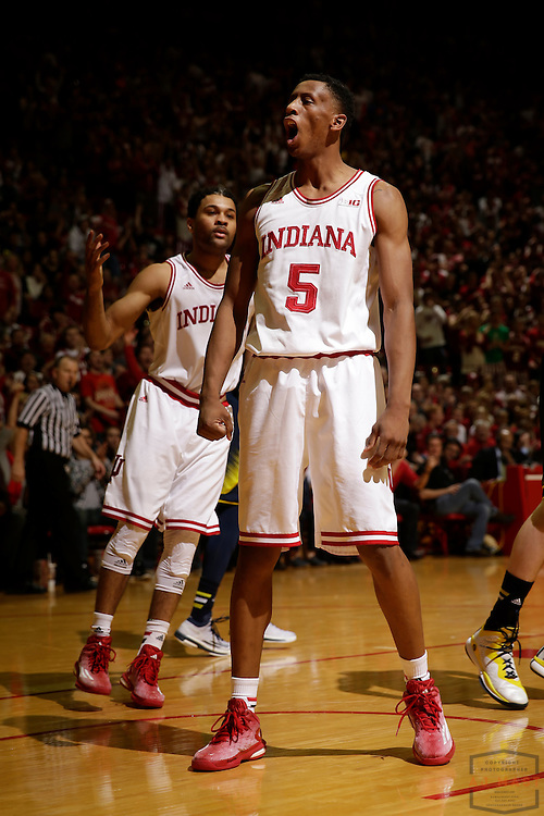 Indiana forward Troy Williams (5) as Michigan played Indiana in an NCCA college basketball game in Bloomington, Ind., Sunday, Feb. 8, 2015. (AJ Mast / Photo))