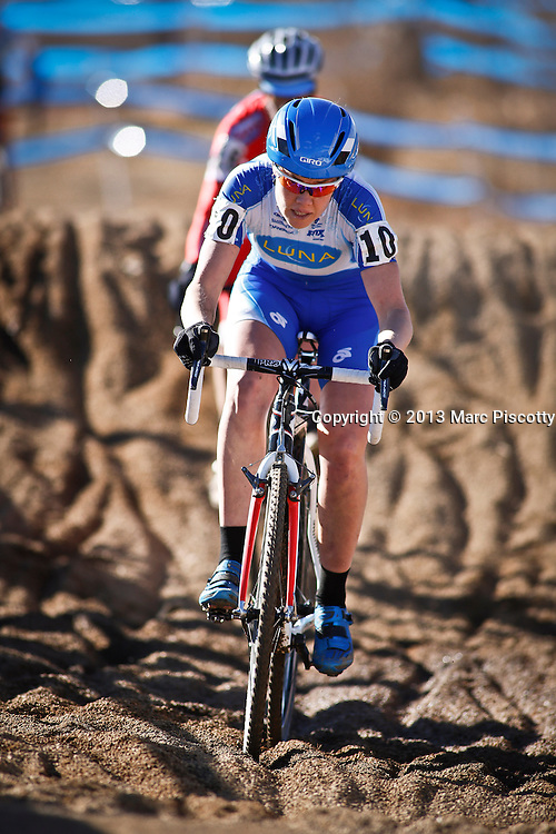 SHOT 1/12/14 2:50:33 PM - Georgia Gould (#10) of Fort Collins, Co. competes in the Women's Elite race at the 2014 USA Cycling Cyclo-Cross National Championships at Valmont Bike Park in Boulder, Co.  (Photo by Marc Piscotty / © 2014)