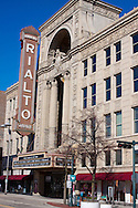 The famous Rialto Square Theater in downtown Joliet, IL. This was once one of famed gangster Al Capone's favorite hangouts.