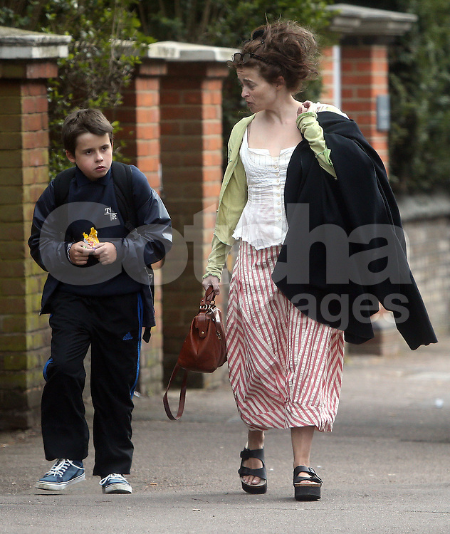 Helena Bonham Carter and her son Billy Raymond Burton out and about in ... Helena Bonham Carter