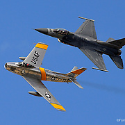 F-16; F-86; Heritage Flight; Santa Rosa; Planes of fame; air force; war; fighters; historic; 2015