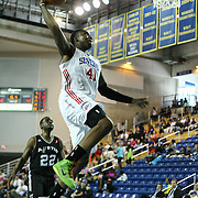 "Delaware 87ers Forward Keith ""Tiny"" Gallon (41) attempts to dunk the ball in the course of a NBA D-league regular season basketball game between the Delaware 87ers (76ers) and the Austin Toros (Spurs) Monday, Jan. 27, 2014 at The Bob Carpenter Sports Convocation Center, Newark, DE"