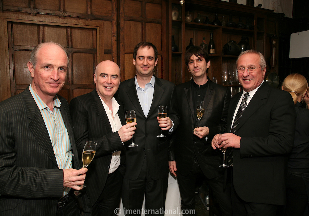 Paul Curran, Ged Doherty Chairman and CEO of SonyBMG, Daniel DiCicco, Mark Beaven and Peter Rudge