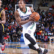 Reno Bighorns Guard Ra'shad James (10) drives the lane with the ball in the second half of a NBA D-league regular season basketball game between the Delaware 87ers and the Reno Bighorns (Sacramento Kings), Tuesday, Feb. 10, 2015 at The Bob Carpenter Sports Convocation Center in Newark, DEL