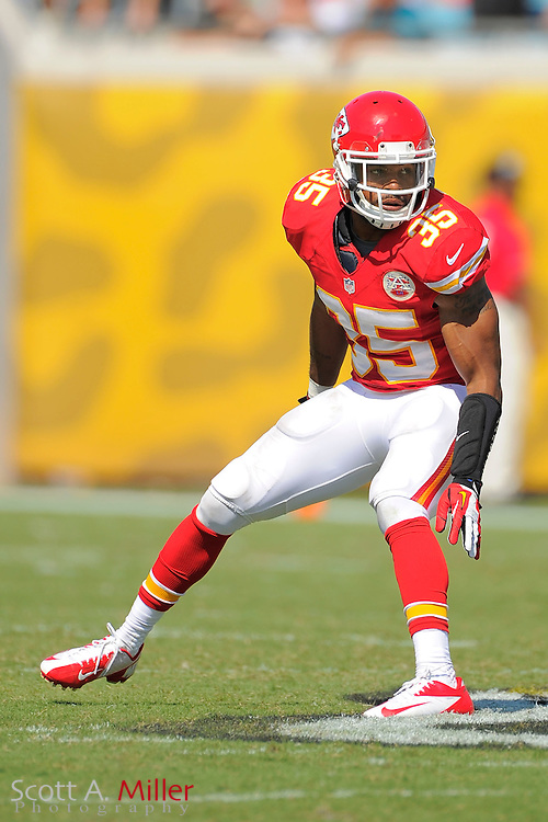 Kansas City Chiefs defensive back Quintin Demps (35) during the Chiefs 28-2 win over the Jacksonville Jaguars at EverBank Field on Sept. 8, 2013 in Jacksonville, Florida. The <br /> <br /> &copy;2013 Scott A. Miller