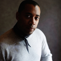 """DJ Carl Craig, now touring with """"Tribe"""", from Detroit, the day they were playing at the occasion of Jazz a la Villette. Paris, France. 10 September 2009. Photo: Antoine Doyen for Vibrations"""