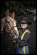 Elizabeth Rascon and Zorro<br /> <br /> 1st Cavalry Division Horse Cavalry Detachment photos by Stacy L. Pearsall