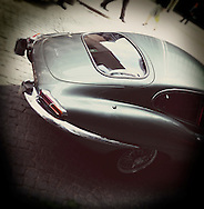 E type Jaguar Sports Car