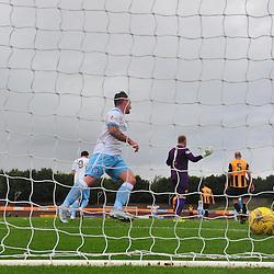 Forfar players run to congratulate opening goalscorer Lewis Milne at Berwick......(c) BILLY WHITE | SportPix.org.uk
