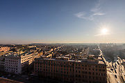 Rome, Vatican Museums, View of Rome from la scalinata del Bramante