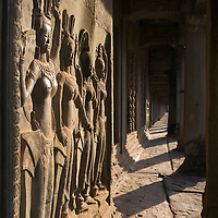 Bas-relief of Apsara dancers at Angkor Wat, Cambodia.