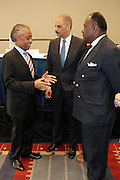 Washington, DC-April 11:  (L-R) Rev. Al Sharpton, Attorney General of the United States Eric Holder and Rev. Dr. W. Frankyln Richardson  attends the 14th Annual National Convention Special Plenary Presentation 1 with Attorney General of the United States Eric Holder held at the Walter E. Washington Convention on April 11, 2012 in Washington, DC . Photo by Terrence Jennings