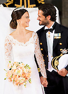 13-6-2015 STOCKHOLM the kiss of Denmark  arrival of  for  .The wedding of Prince Carl Philip and Sofia Hellqvist  at the  Royal palace in Stockholm .COPYRIGHT ROBIN UTRECHT