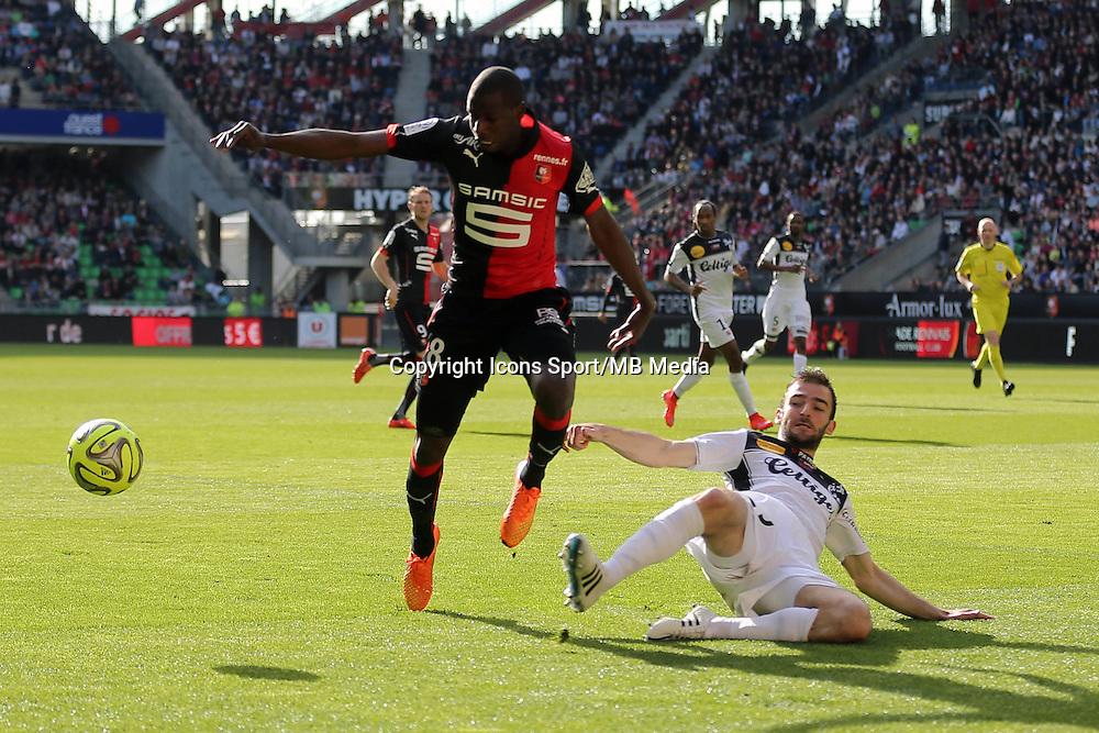 Abdoulaye DOUCOURE / Christophe KERBRAT - 12.04.2015 - Rennes / Guingamp - 32eme journee de Ligue 1 <br />Photo : Vincent Michel / Icon Sport