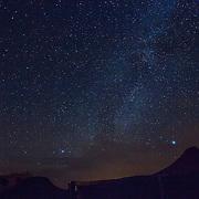 Milky Way, over Berber Tents, Erg Chebbi Dunes; Merzouga; Milky Way; Morocco