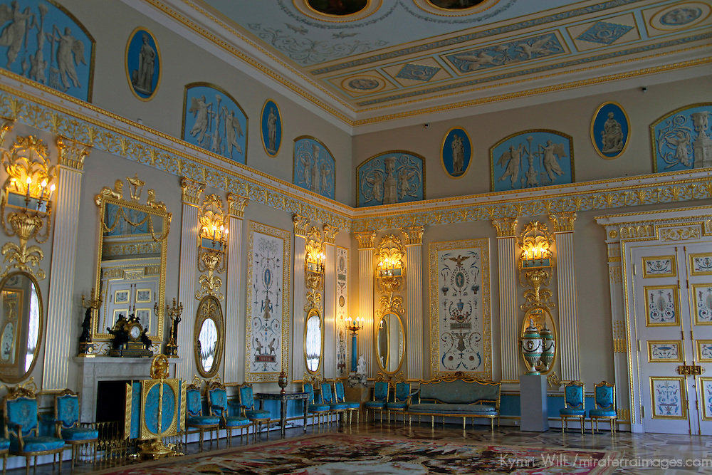 Europe, Russia, Pushkin. Arabesque Hall of Catherine Palace.