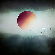 Misty landscape mirrored with parts of it functioning as celestial object - surreal photomaipulation<br /> REDBUBBLE products: http://rdbl.co/2mCCES0
