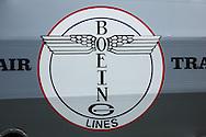 Boeing logo on side of Boeing 40.