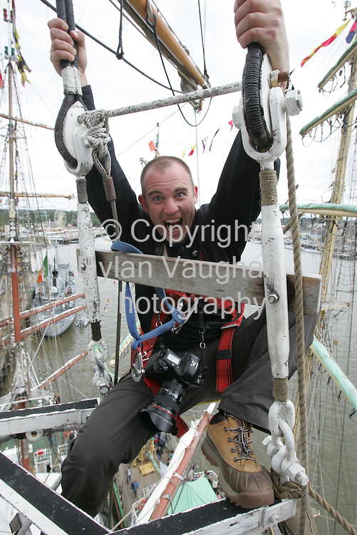Dylan Vaughan pictured on the TAll Ship the Prince William in Waterford..Picture Alan Betson