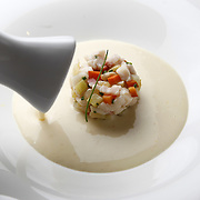 At Lockwood restaurant in the Palmer House Hilton, Executive Chef Phillip Foss is offering Asian Carp. Carp Chowder.<br /> Shot on Friday April 16, 2010.<br /> <br /> (William DeShazer/ Chicago Tribune) B58386528Z.1<br /> ....OUTSIDE TRIBUNE CO.- NO MAGS,  NO SALES, NO INTERNET, NO TV, NEW YORK TIMES OUT, CHICAGO OUT, NO DIGITAL MANIPULATION...