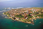 Galle Fort. Lighthouse and ramparts of the old Dutch Fort. A UNESCO World Heritage site.