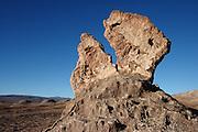 Rock sculpture in the Valley de la Luna in Chile's Atacama desert, next to Tres Marias