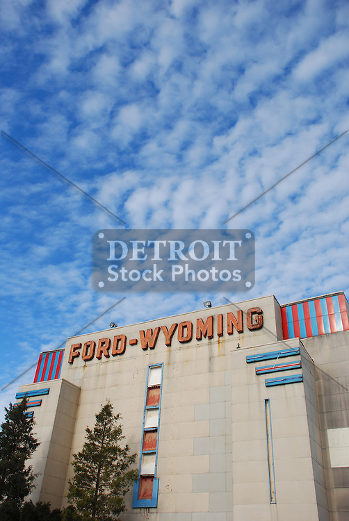 Ford Wyoming Drive In Detroit Stock Photos
