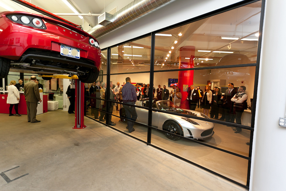 VIP's attending MCC Transportation Transformation Series: Opening Reception at Tesla Showroom held  May 11, 2011 at Tesla Motors New York, 511 West 25th Street, New York. This exciting series was presented by MCC's Green Business Committee, MCC's Tech and Innovation Committee and E3NYC. The MCC offers the business community a variety of perspectives of the direction of clean transportation in New York and beyond. The Tesla Roadster is the world's only automobile that offers supercar performance without supercar emissions. Engineered for performance and efficiency, it accelerates from 0 to 60 in 3.7 seconds, delivering 295 lbs-ft. of torque without using a drop of gasoline. The Roadster travels 245 miles on a single charge and plugs into nearly any outlet in the world - allowing for uncompromised electric driving. The event was sponsored by Con Edison Commercial & Industrial Energy Efficiency Programs for sponsoring the MCC Green Business Committee for 2011.