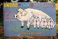 Farm sign near Horquita, Cienfuegos, Cuba.