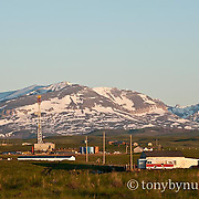 oil drilling platform residential area conservation photography - blackfeet oil