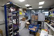 IT department network room interior