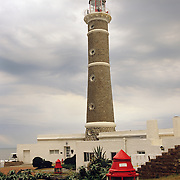 South America, Uruguay, Punta Jose Ignacio, lighthouse, faro stands guard as a beacon for navigation.