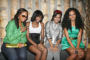 l to r: Chrisette Michelle, Guest, Teyana Taylor and Solange Knowles at Solange Knowles NYC Album release party held at Butter in New York City on September 5, 2008