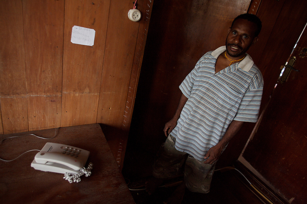 the clinic has a telephone and electricity supplied by a generator, the only electricity for at least a 300 mile radius .