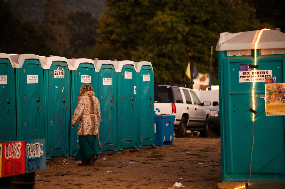Color coordination at the potties on Saturday morning.